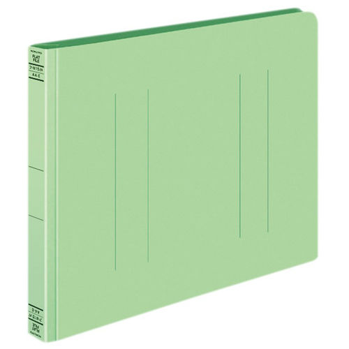 コクヨ フラットファイルW 厚とじ A4ヨコ グリーン 10冊 フ-W15NG