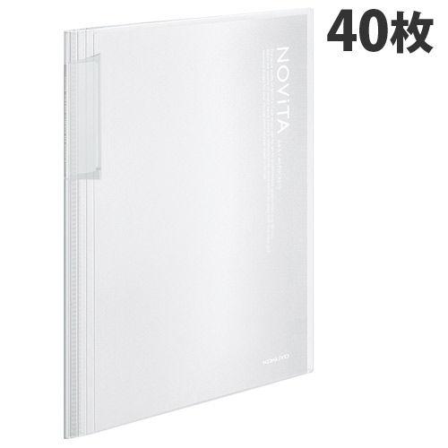 コクヨ クリヤーブック ノビータ 40枚 A4 透明 40枚 ラ-N40T