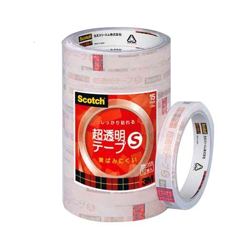 3M スコッチ 超透明テープ 幅15mm 10巻 BK15N