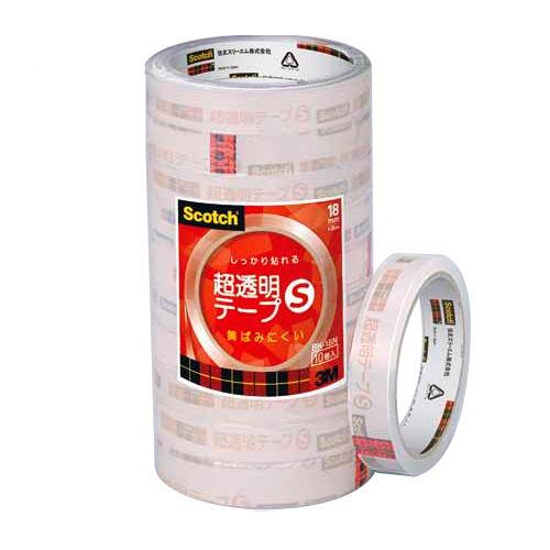 3M スコッチ 超透明テープ 幅18mm 10巻 BK18N
