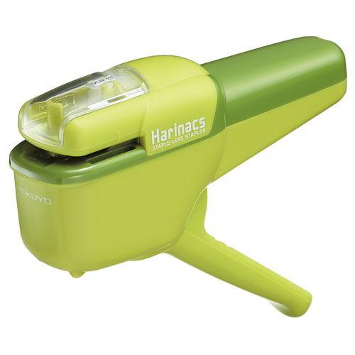コクヨ 針なしステープラー ハリナックス 緑 10枚 SLN-MSH110G