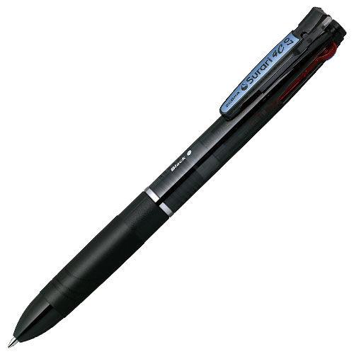 ゼブラ エマルジョンボールペン スラリ 4C 4色ボールペン 0.7mm 黒 B4A11-BK