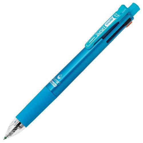 ゼブラ エマルジョンボールペン スラリマルチ 4色ボールペン0.7+シャープ ライトブルー B4SA11-LB