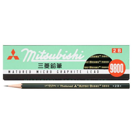 三菱鉛筆 六角事務用鉛筆 2B K98002B