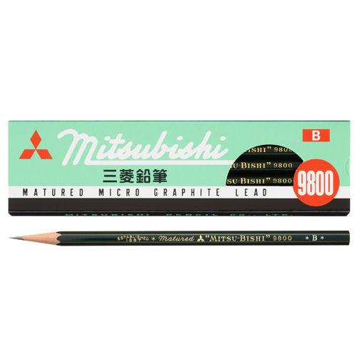 三菱鉛筆 六角事務用鉛筆 B K9800B