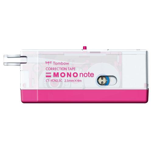 トンボ鉛筆 修正テープ モノノート 2.5mm ピンク CT-YCN2.5C81