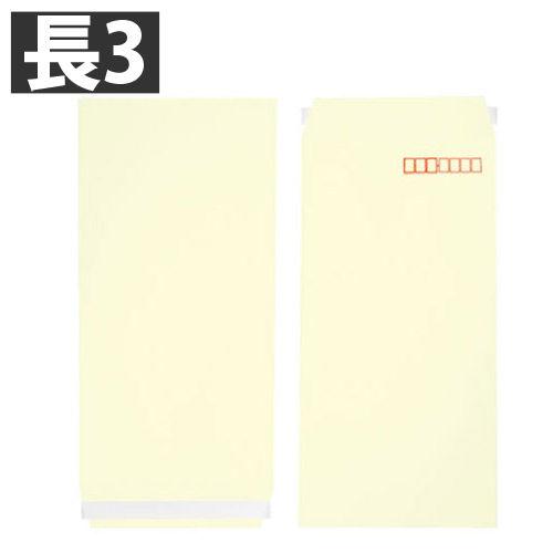 ヤマガタ カラー封筒 Sカラー 80g 長3 クリーム 1000枚