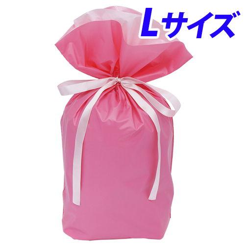 カクケイ 梨地巾着袋 L ピンク 20枚 FK2422