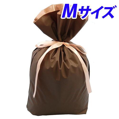 カクケイ 梨地巾着袋 M ブラウン 20枚 FK2411