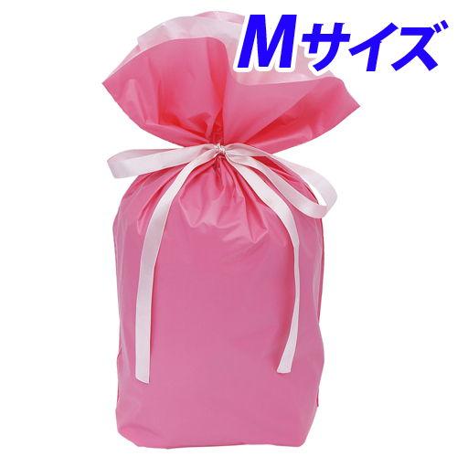 カクケイ 梨地巾着袋 M ピンク 20枚 FK2423