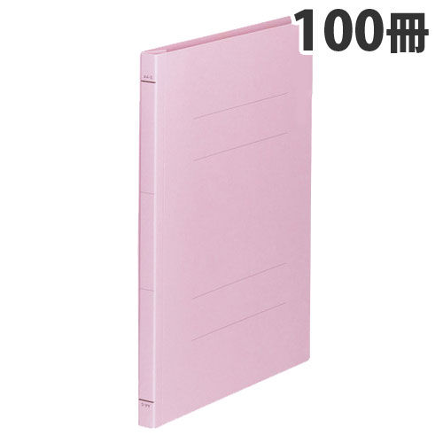 FAMS フラットファイル フラットファイル A4タテ ピンク 100冊入