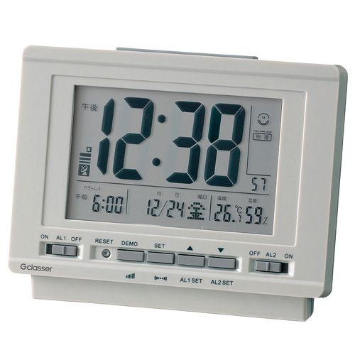 キングジム 電波時計 ハイブリッドデジタル電波時計 GDD-001