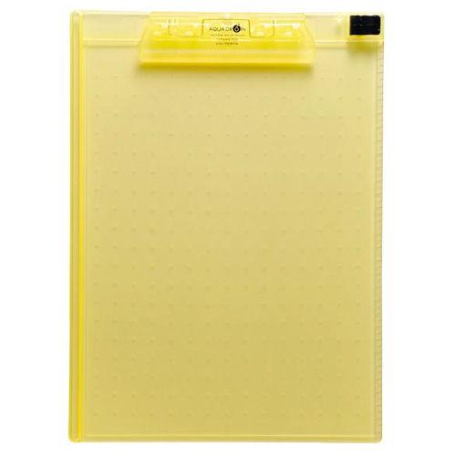リヒトラブ アクアドロップス クリップボード A4 黄 A-5010-5