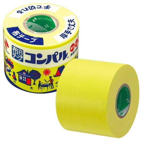 ニチバン 布粘着テープ コンパル 50mm×10m 黄 CPN2-50