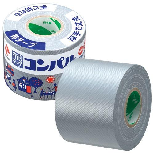 ニチバン 布粘着テープ コンパル 50mm×10m 銀 CPN10-50