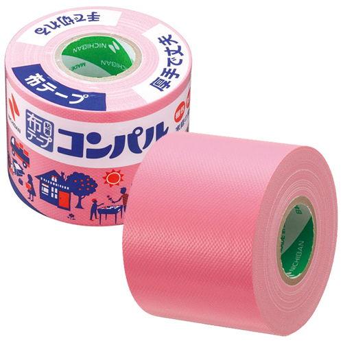 ニチバン 布粘着テープ コンパル 50mm×10m ピンク CPN11-50