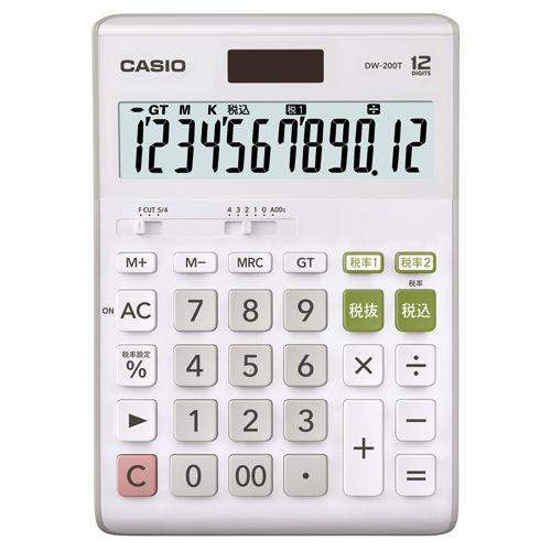 カシオ計算機 卓上電卓 12桁 DW-200T-N