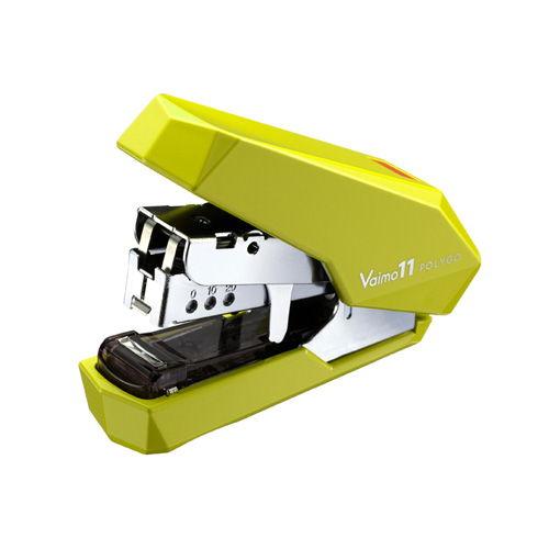 マックス フラットホッチキス バイモ11 ポリゴ ライトグリーン HD-11SFLK/LG