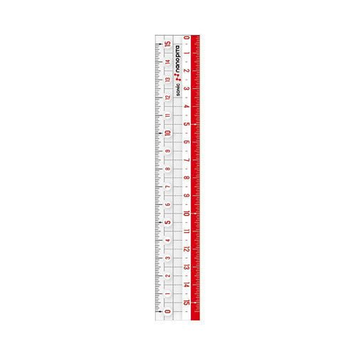 ソニック 直線定規 ナノピタ 15cm SK-7500