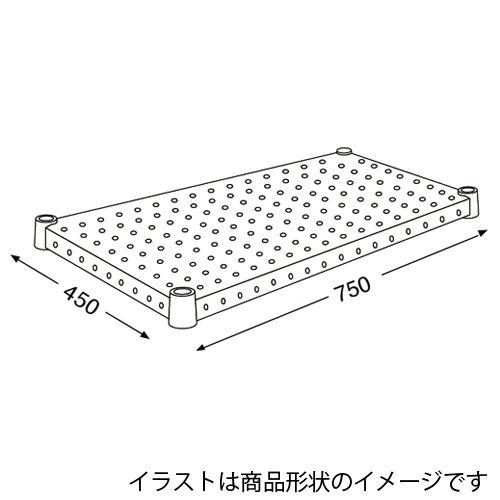 エレクター メタルラック パンチングシェルフ H1830PS1