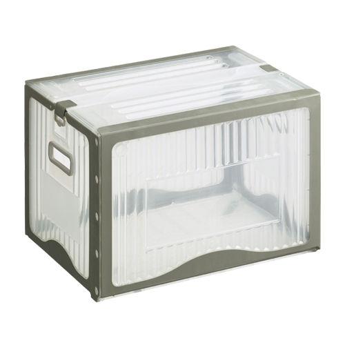 岐阜プラスチック工業 リスボックス 40L 透明 40B2 C/GY