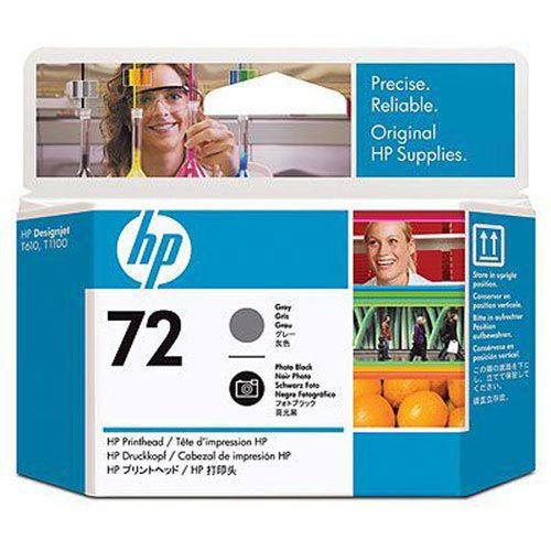 HP 純正インク プリントヘッドHP72 グレー/F黒