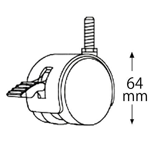 エレクター メタルラック キャスター ストッパー付 2個 HDRS50