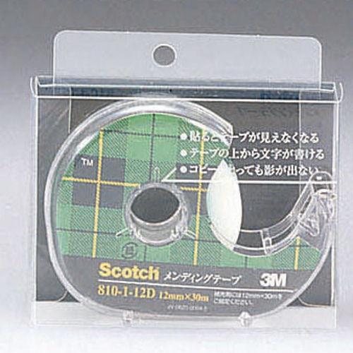 3M メンディングテープ スコッチ 12mm×30m 810-1-12D