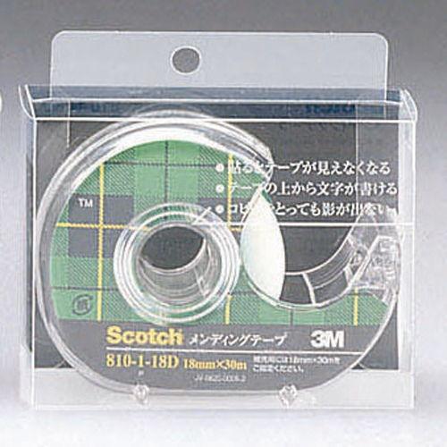 3M メンディングテープ スコッチ 18mm×30m 810-1-18D