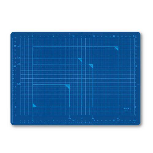 プラス カッターマット A4 青 CS-A4 BL