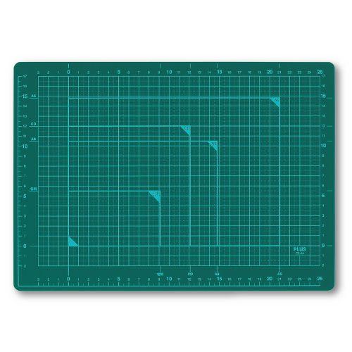 プラス カッターマット A4 緑 CS-A4 GR