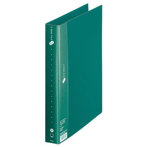 プラス スーパーエコノミー 2リングファイル 丸型2穴 A4タテ 緑 FC-101RF