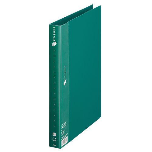 プラス スーパーエコノミー 2リングファイル 丸型2穴 A4タテ 緑 FC-102RF