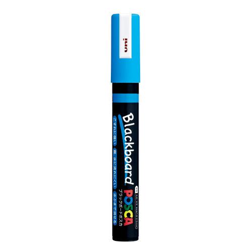 三菱鉛筆 ブラックボードポスカ 中字 丸芯 水色 PCE-200-5M