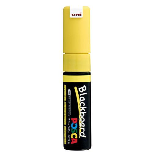 三菱鉛筆 ブラックボードポスカ 太字 角芯 黄 PCE-250-8K