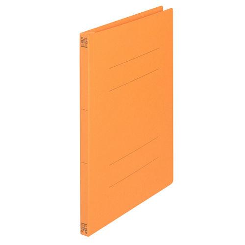プラス フラットファイル A4タテ オレンジ 10冊 021N