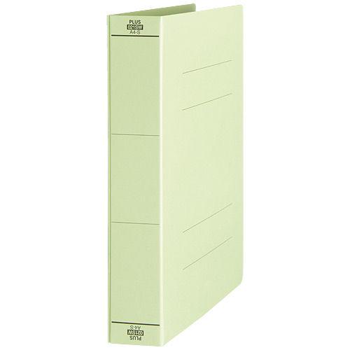 プラス フラットファイル 厚とじ A4S グリーン No.021SW