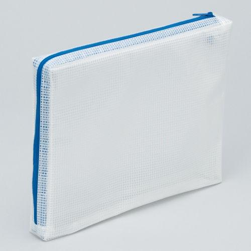 マグエックス メッシュケース マチあり A5 青 MMCL-A5