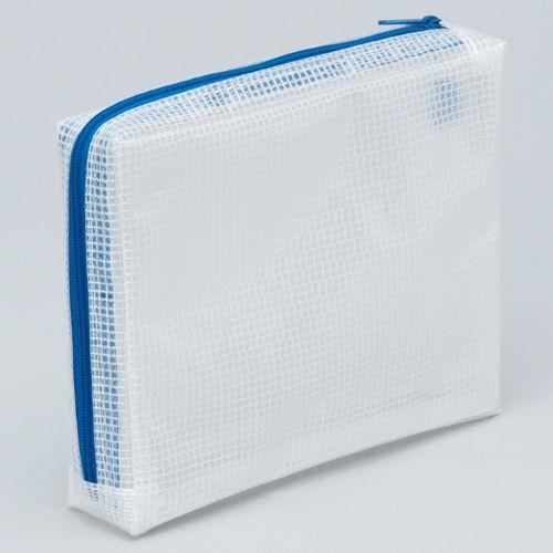 マグエックス メッシュケース マチあり A6 青 MMCL-A6
