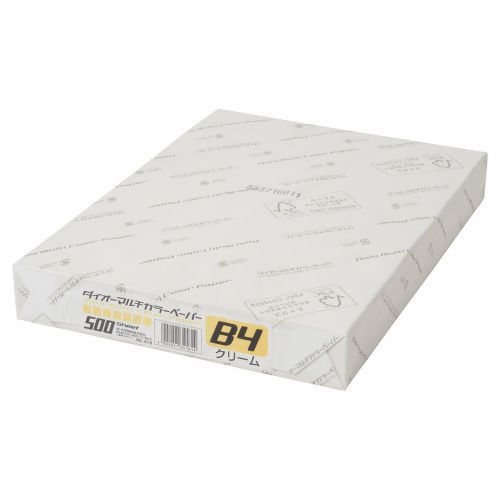 大王製紙 マルチカラー紙 B4 クリーム 500枚 CW-630C