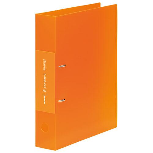 キングジム シンプリーズ DリングファイルF(透明) A4 オレンジ 653