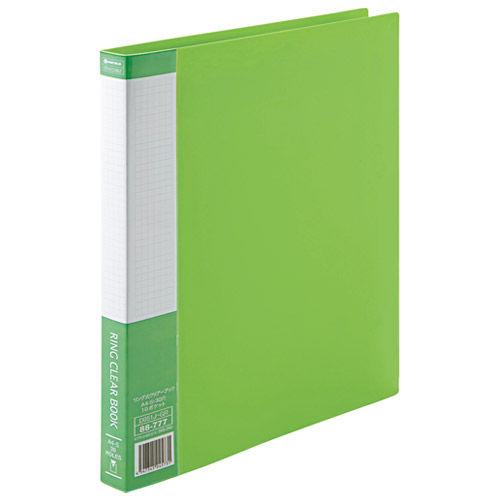 SV リング式クリアーブック 緑 1冊 D051J-GR