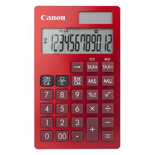 キヤノン 電卓 ビジネス手帳型電卓 レッド KS-12T-RD