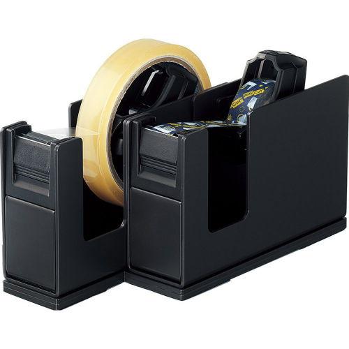 コクヨ テープカッター カルカット スチール2連タイプ 黒 T-SM110D