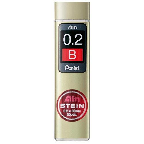 ぺんてる シャープペンシル Ain替芯シュタイン B 0.2mm 20本入 C272W-B