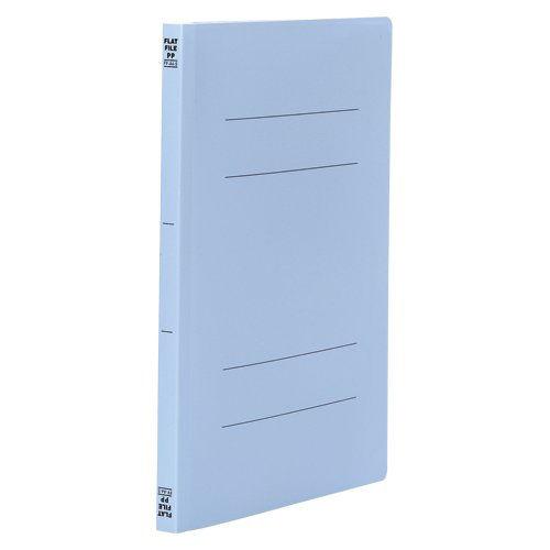 ビュートン フラットファイルPP A4タテ ブルー 10冊 FF-A4S-B