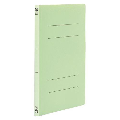 ビュートン フラットファイルPP A4タテ グリーン 10冊 FF-A4S-GN