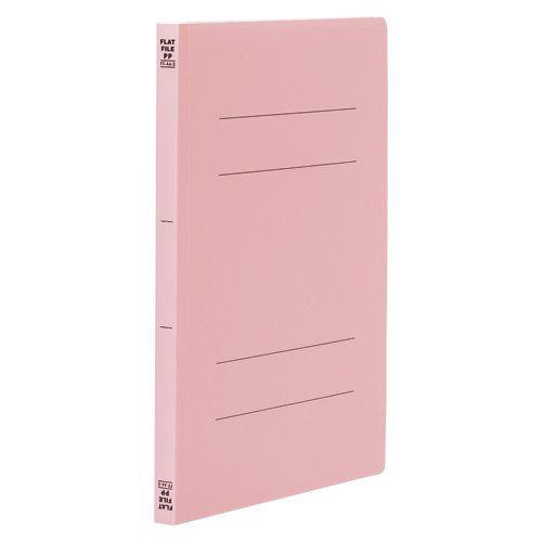 ビュートン フラットファイルPP A4タテ ピンク 10冊 FF-A4S-P