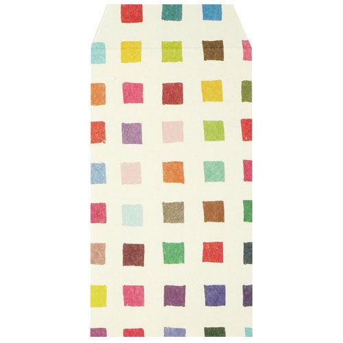 ふわり 和紙ぽち袋 カラフルタイル FWP10007