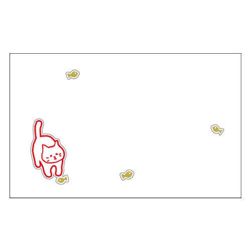 ふわり メッセージカード ねこ FW42001